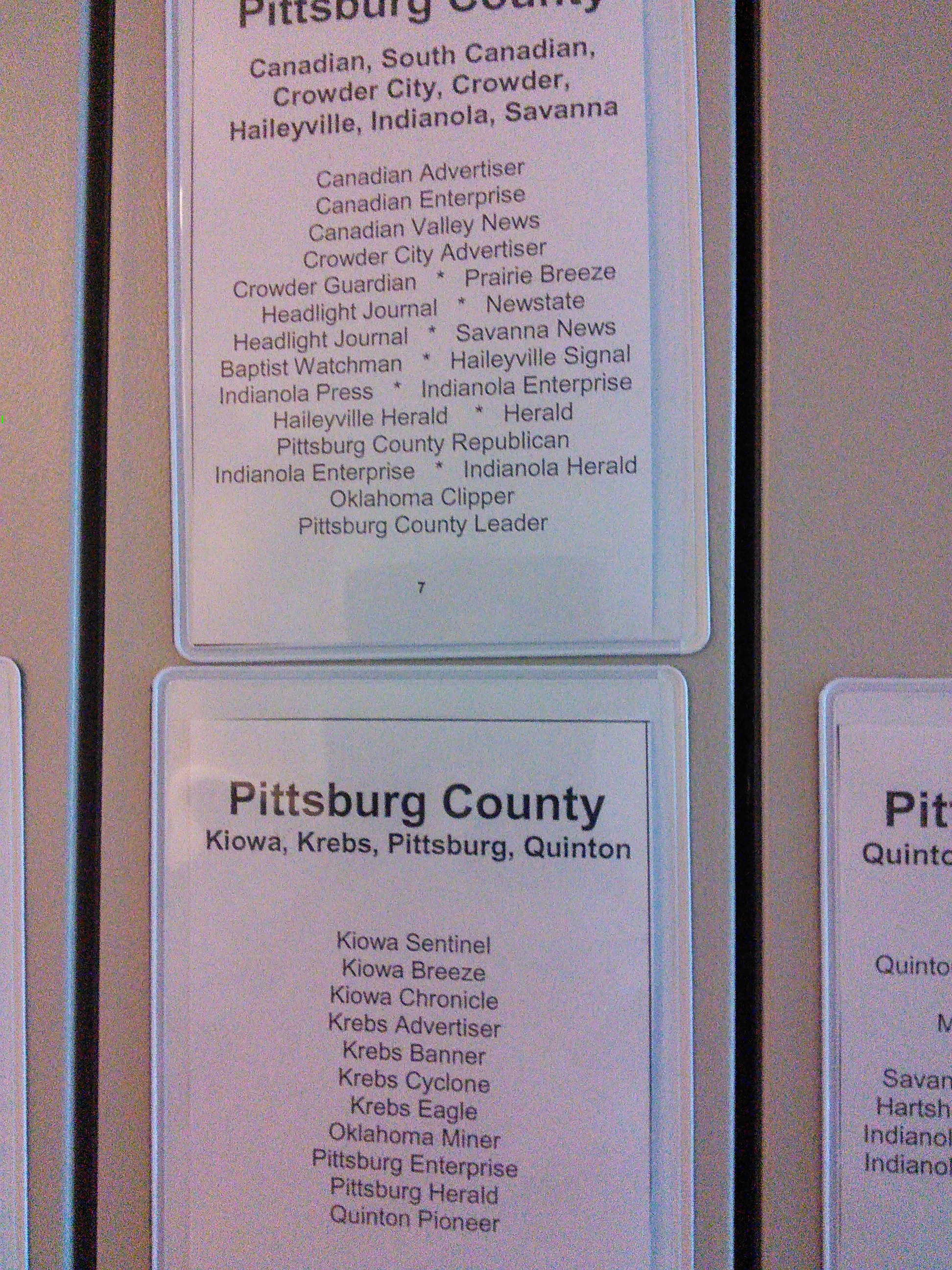 pittsburg county Pittsburg county, ok zip codes detailed information on all the zip codes of pittsburg county.